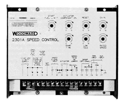 Woodward 2301A for diesel engines
