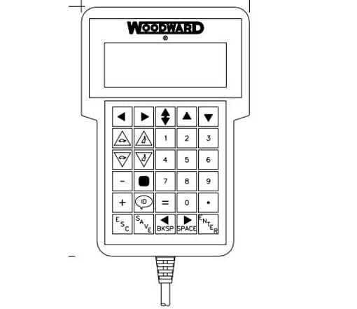 Woodward hand-held 723Plus digital control