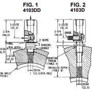 Vue en coupe des Capteurs de shutdown de Amot Modele 4103