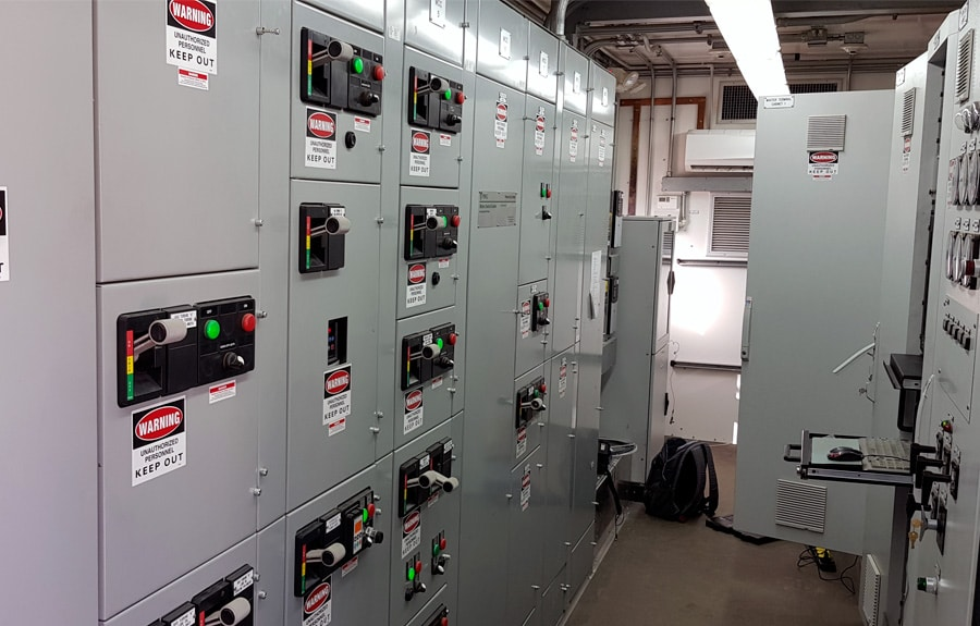 Control room of the FT8 turbine for the AWF intervention